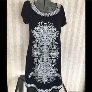 INC embroidered dress.